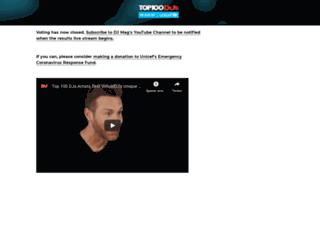 top100djsvote.djmag.com screenshot