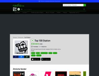 top100station.radio.de screenshot