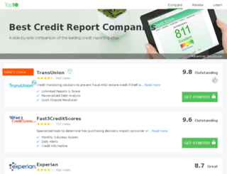 top10bestcreditreports.co.uk screenshot