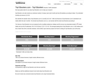 top10booters.com.websitetrafficspy.com screenshot