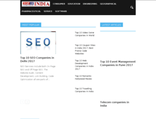 top10companiesinindia.co.in screenshot