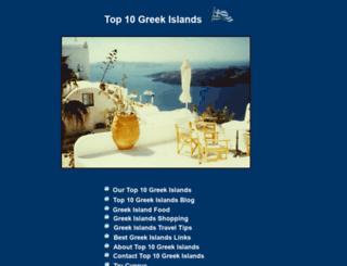 top10greekislands.com screenshot