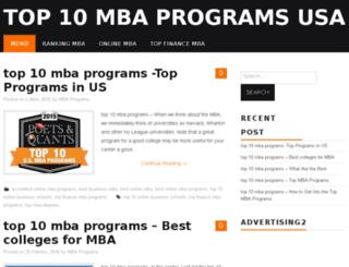 top10mbaprogramsusa.com screenshot