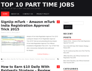 top10parttimejobs.com screenshot