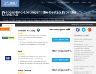 top10webhosting.de screenshot