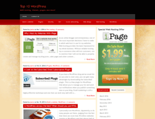 top10wordpress.com screenshot