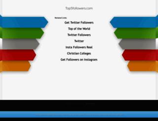 top5followers.com screenshot