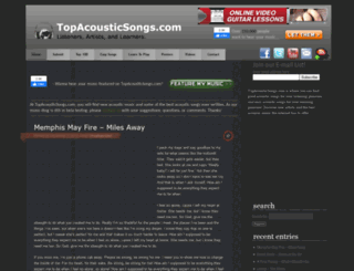 topacousticsongs.com screenshot
