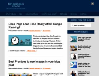 topbloggingcoach.com screenshot