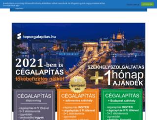 topcegalapitas.hu screenshot