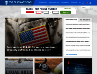 topclassactions.com screenshot