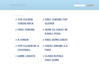 topelevencheat.net screenshot
