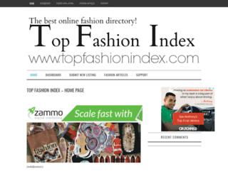 topfashionindex.com screenshot