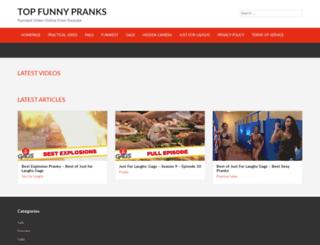 topfunnypranks.com screenshot