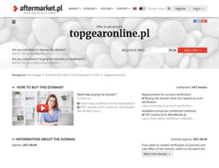 topgearonline.pl screenshot