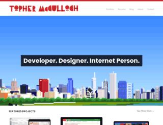 tophermcculloch.com screenshot