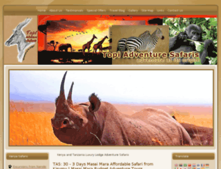 topiadventuresafaris.com screenshot