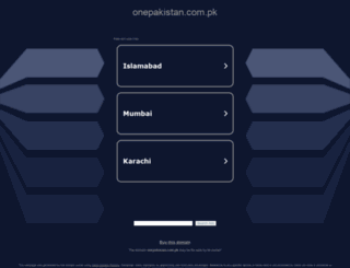topics.onepakistan.com.pk screenshot