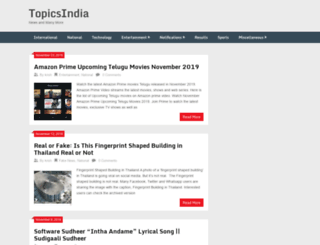 topicsindia.com screenshot