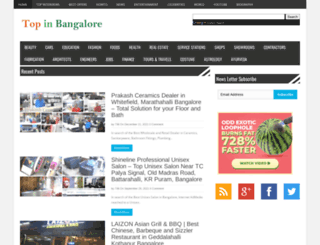 topinbangalore.com screenshot