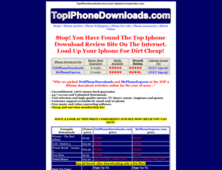 topiphonedownloads.com screenshot