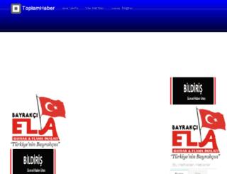 toplamhaber.com screenshot