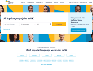 toplanguagejobs.co.uk screenshot