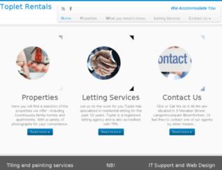 topletrentals.co.za screenshot