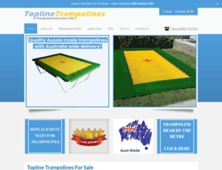 topline-trampolines.com.au screenshot