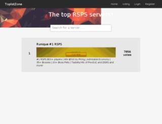 toplist.zone screenshot