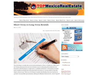 topmexicorealestate.wordpress.com screenshot