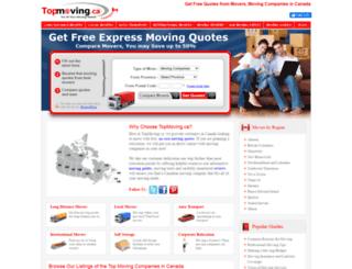 topmoving.ca screenshot