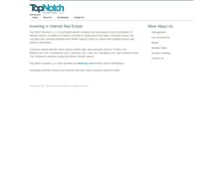 topnotchdomains.com screenshot
