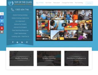 topoftheclass.com.au screenshot