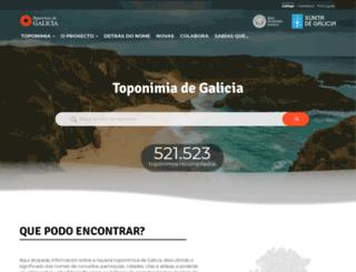 toponimia.xunta.es screenshot
