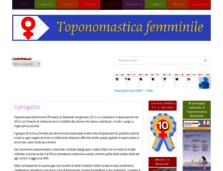 toponomasticafemminile.it screenshot