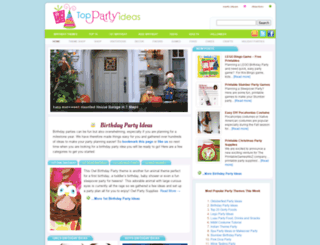 toppartyideas.com screenshot