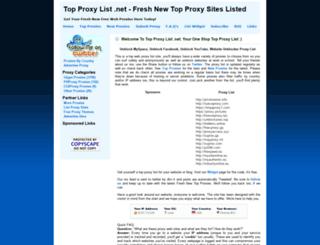 topproxylist.net screenshot