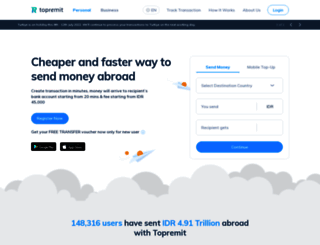topremit.com screenshot