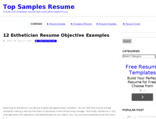 topsamplesresume.com screenshot