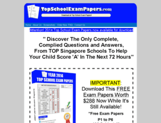 topschoolexampapers.com screenshot