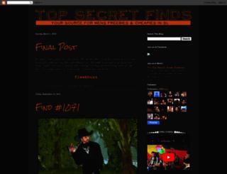 topsecretfinds.blogspot.com screenshot