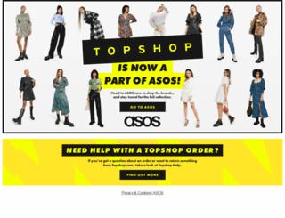 topshop.com screenshot
