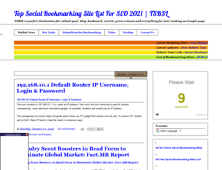 topsocialbookmarkingsitelistforseo.blogspot.com screenshot