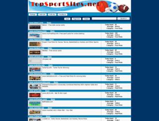 topsportsites.net screenshot