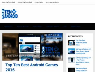 toptenandroid.com screenshot