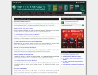 toptenantivirus.net screenshot