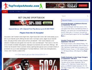 toptensportsbooks.com screenshot