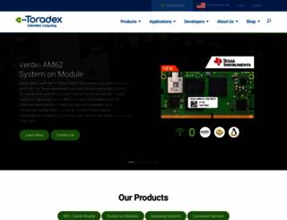 toradex.com screenshot