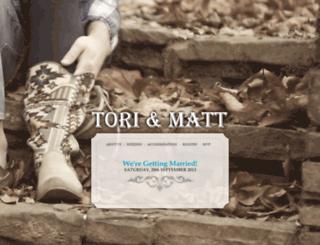 toriandmatt.com screenshot